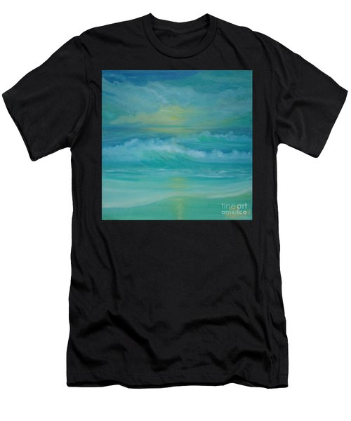 Emerald Waves Men's T-Shirt (Athletic Fit)