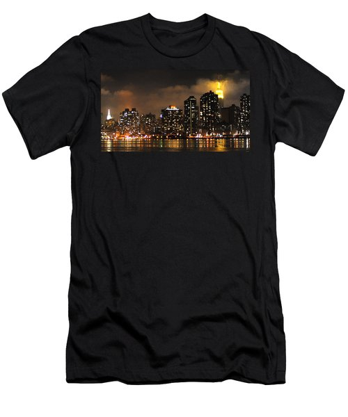 Empire State Building From Long Island City Men's T-Shirt (Slim Fit) by Steve Archbold