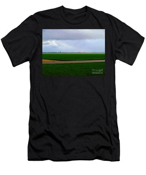 Men's T-Shirt (Athletic Fit) featuring the digital art Empty Green by Luc Van de Steeg