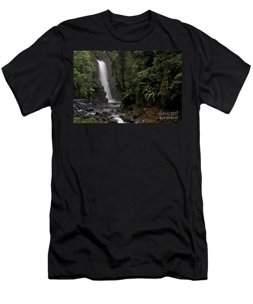 Encantada Waterfall Costa Rica Men's T-Shirt (Athletic Fit)