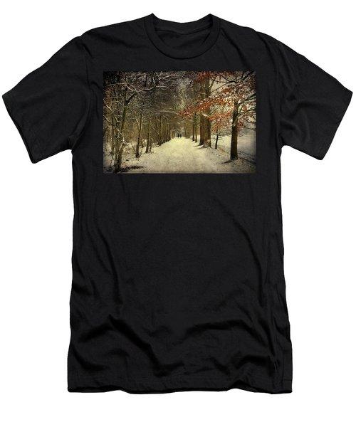 Enchanting Dutch Winter Landscape Men's T-Shirt (Athletic Fit)