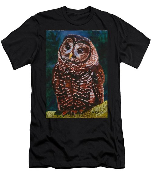 Endangered - Spotted Owl Men's T-Shirt (Slim Fit) by Mike Robles