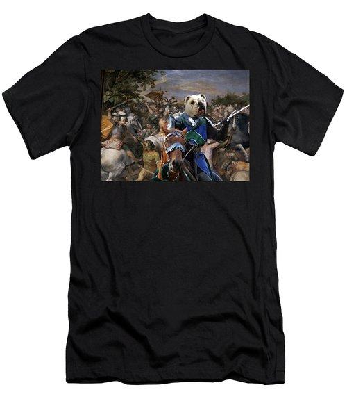 English Bulldog Art Canvas Print - The Sword And Glory Men's T-Shirt (Athletic Fit)