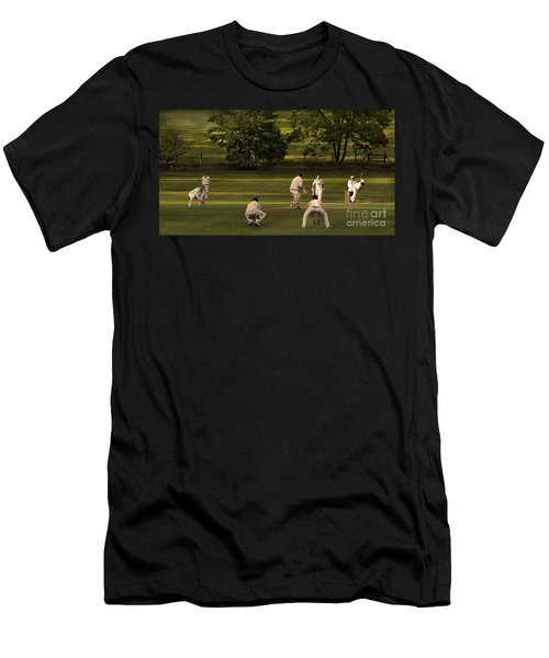 English Village Cricket Men's T-Shirt (Athletic Fit)