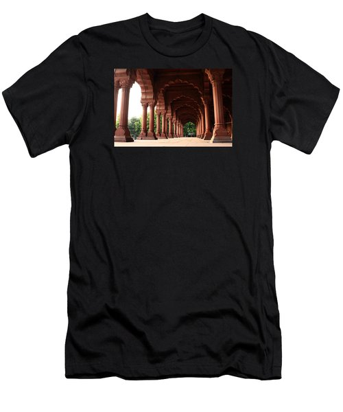 Men's T-Shirt (Athletic Fit) featuring the photograph Engrailed Arches, Red Fort, New Delhi by Aidan Moran