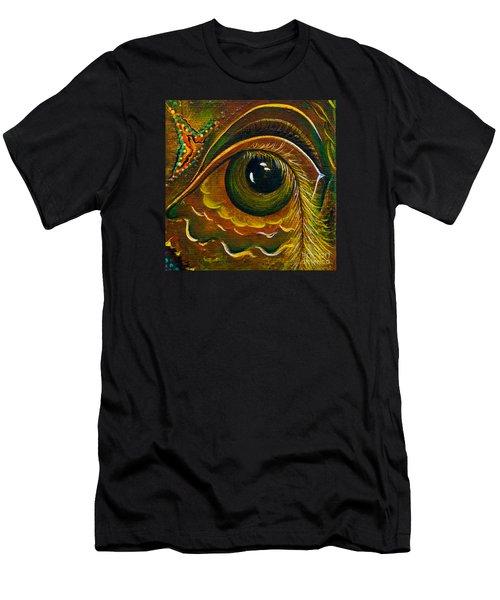 Men's T-Shirt (Slim Fit) featuring the painting Enigma Spirit Eye by Deborha Kerr