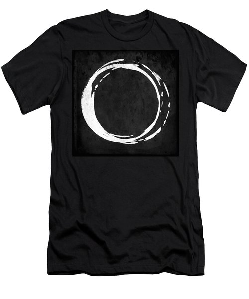Enso No. 107 White On Black Men's T-Shirt (Slim Fit)