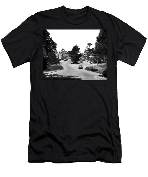Entering Carmel By The Sea Calif. Circa 1945 Men's T-Shirt (Slim Fit) by California Views Mr Pat Hathaway Archives
