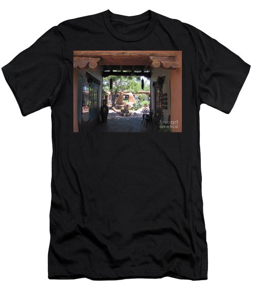 Men's T-Shirt (Slim Fit) featuring the photograph Entrance To Market Place by Dora Sofia Caputo Photographic Art and Design