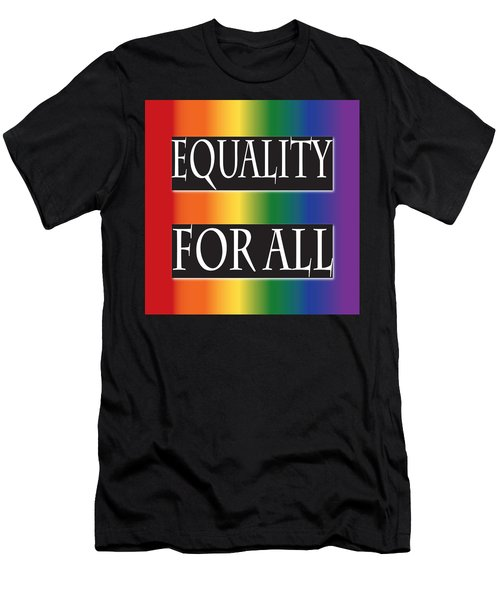Equality Rainbow Men's T-Shirt (Athletic Fit)
