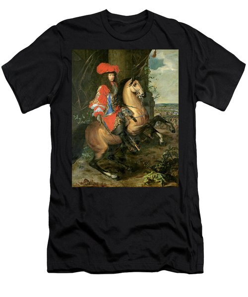 Equestrian Portrait Of Louis Xiv 1638-1715 Oil On Canvas Men's T-Shirt (Athletic Fit)
