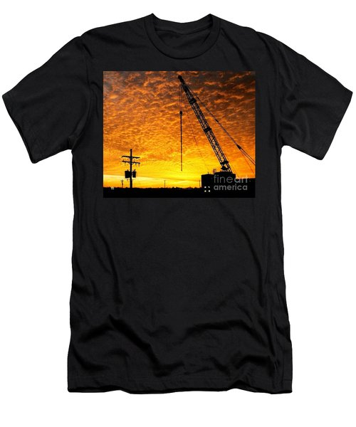 Erecting A Sunset In Beaumont Texas Men's T-Shirt (Athletic Fit)