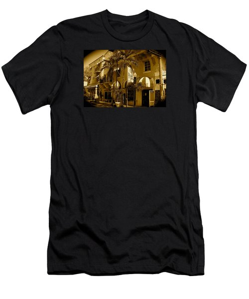 Espanola Way In Miami South Beach Men's T-Shirt (Athletic Fit)