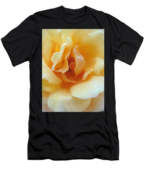 Lightness Of Being - Yellow Rose Macro -floral Art From The Garden Men's T-Shirt (Athletic Fit)