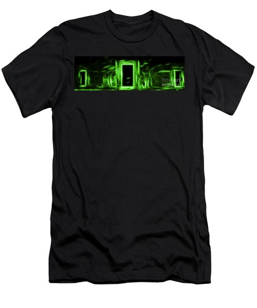 Ethereal Doorways Green Men's T-Shirt (Athletic Fit)