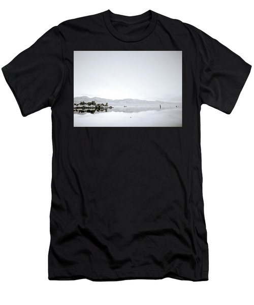 Ethereal Mono Lake Men's T-Shirt (Slim Fit) by Shaun Higson