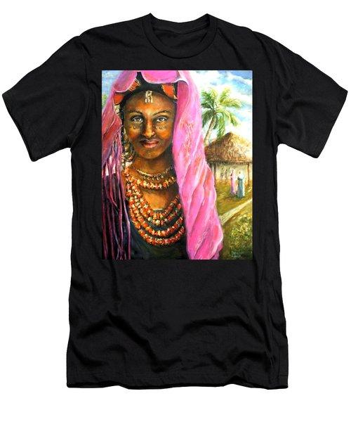 Ethiopia Bride Men's T-Shirt (Slim Fit) by Bernadette Krupa