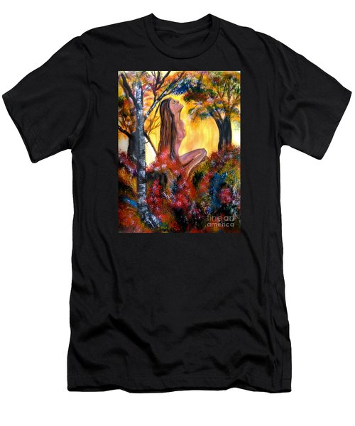 Eve In The Garden Men's T-Shirt (Slim Fit) by Lori  Lovetere