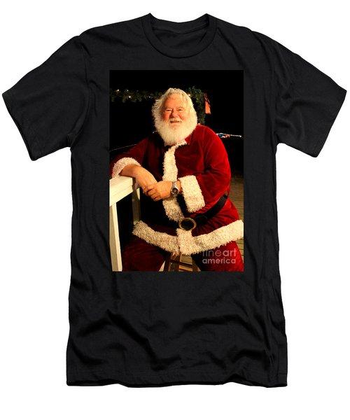 Even Santa Needs A Break Men's T-Shirt (Slim Fit) by Kathy  White