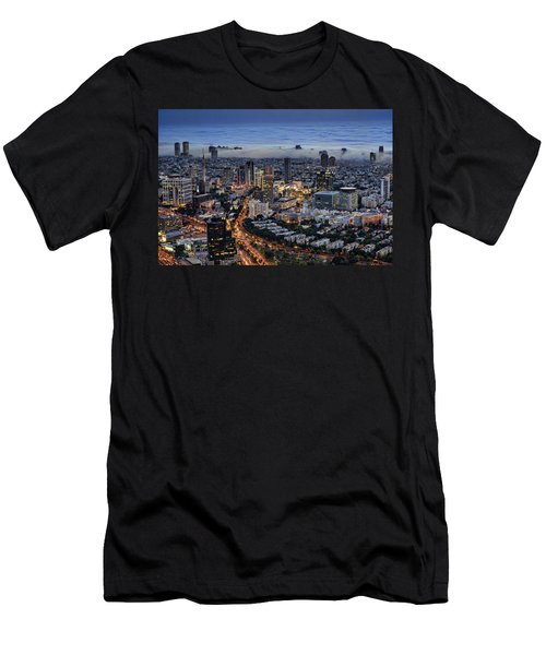 Evening City Lights Men's T-Shirt (Athletic Fit)