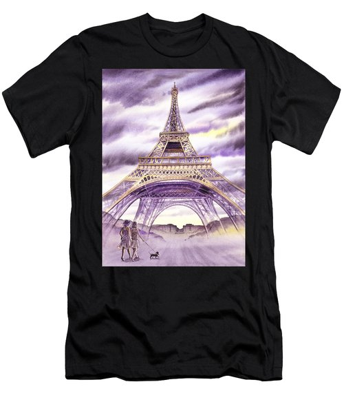 Evening In Paris A Walk To The Eiffel Tower Men's T-Shirt (Athletic Fit)