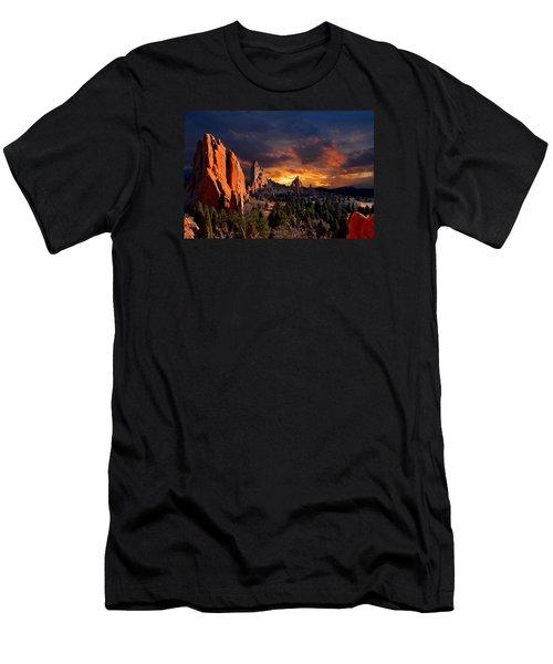 Evening Light At The Garden Men's T-Shirt (Slim Fit) by John Hoffman