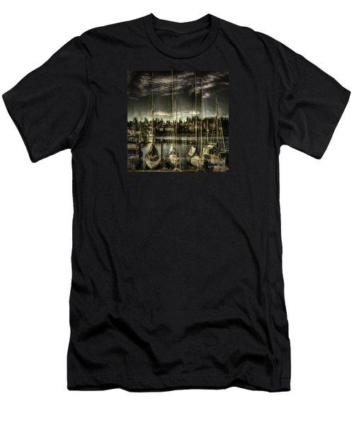 Men's T-Shirt (Slim Fit) featuring the photograph Evening Mood by Jean OKeeffe Macro Abundance Art