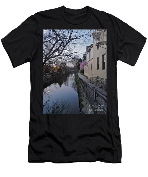 Evening On The Canal Path Men's T-Shirt (Athletic Fit)