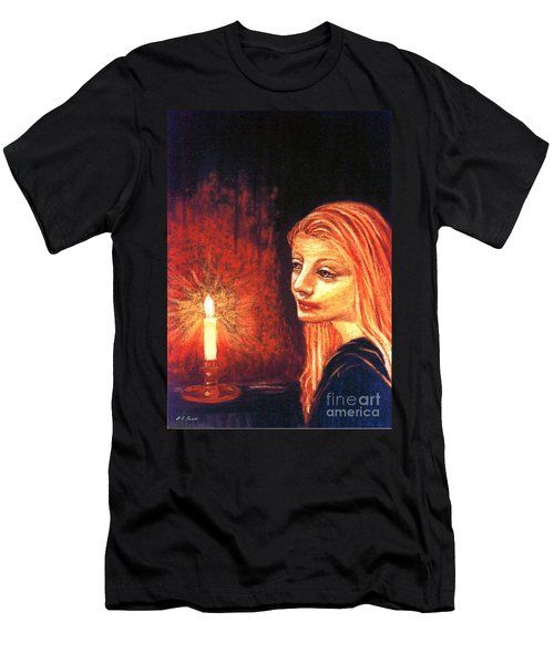 Men's T-Shirt (Slim Fit) featuring the painting Evening Prayer by Jane Small
