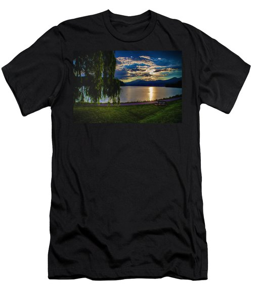 Evening Sun Kisses Lake One Last Time Men's T-Shirt (Athletic Fit)