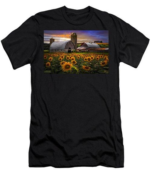 Evening Sunflowers Men's T-Shirt (Athletic Fit)