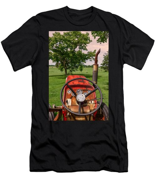 Men's T-Shirt (Athletic Fit) featuring the photograph Ever Drive A Tractor by Garvin Hunter