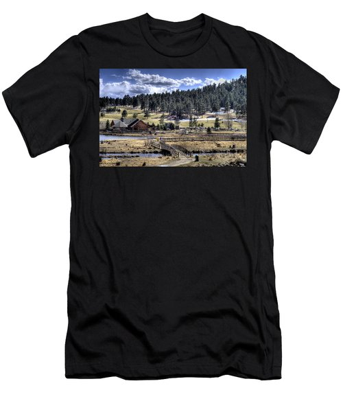 Evergreen Colorado Lakehouse Men's T-Shirt (Slim Fit) by Ron White