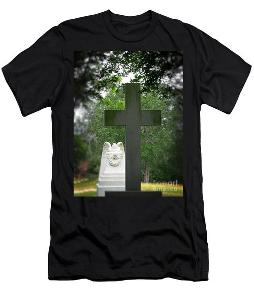 Men's T-Shirt (Slim Fit) featuring the painting Every Knee Shall Bow by Ella Kaye Dickey