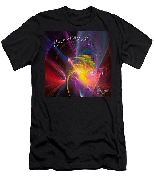 Exceeding Joy Men's T-Shirt (Slim Fit) by Margie Chapman