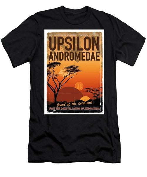 Exoplanet 06 Travel Poster Upsilon Andromedae 4 Men's T-Shirt (Athletic Fit)