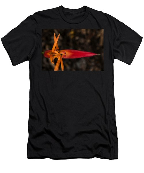 Men's T-Shirt (Slim Fit) featuring the photograph Exotic Heliconia by Steven Sparks