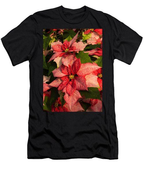 Exotic Speckled Poinsettia Blossoms - Christmas From The Tropics Men's T-Shirt (Athletic Fit)
