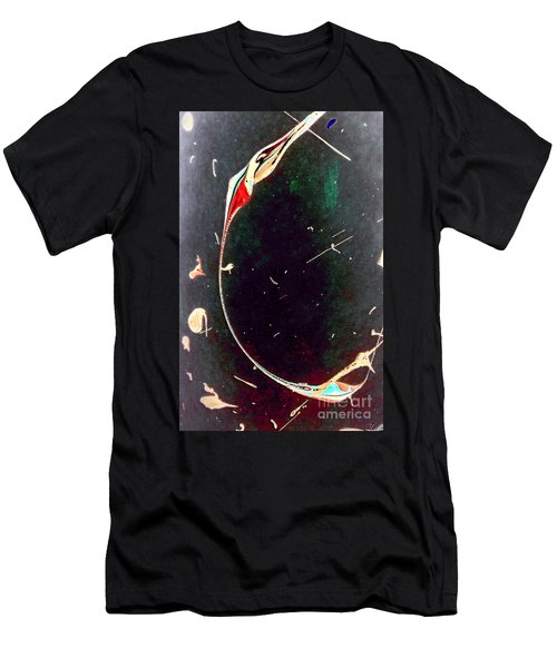Men's T-Shirt (Slim Fit) featuring the painting Exploring New Depths by Jacqueline McReynolds