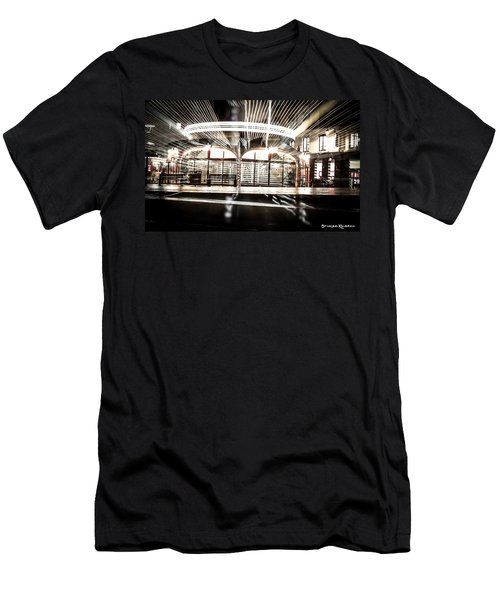 Men's T-Shirt (Athletic Fit) featuring the photograph Explozoom On A French Carousel by Stwayne Keubrick