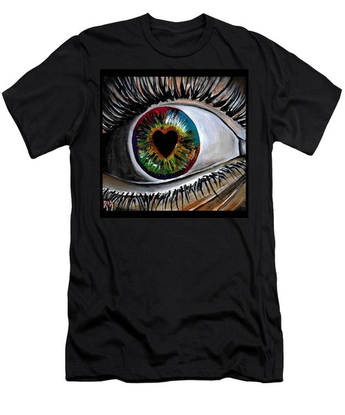 Eye Love You Men's T-Shirt (Athletic Fit)