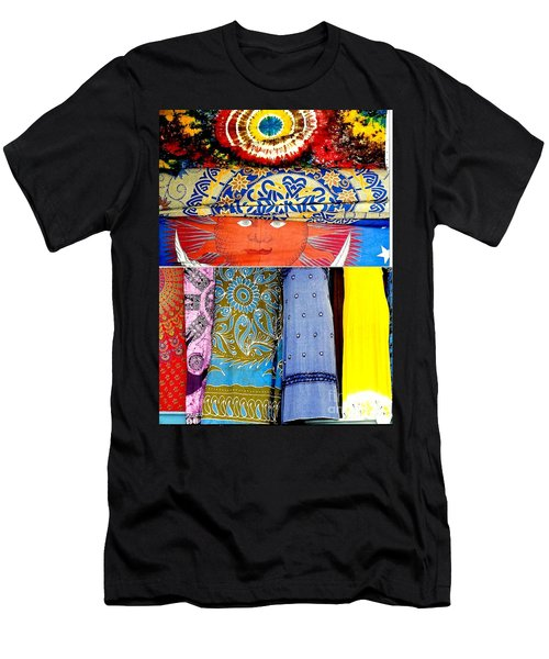 Men's T-Shirt (Slim Fit) featuring the photograph New Orleans Eye See Fabric In Lifestyles by Michael Hoard
