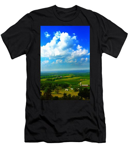 Eyes Over Farmland Men's T-Shirt (Athletic Fit)
