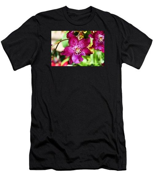 Fabulous Fushia Orchids By Diana Sainz Men's T-Shirt (Athletic Fit)