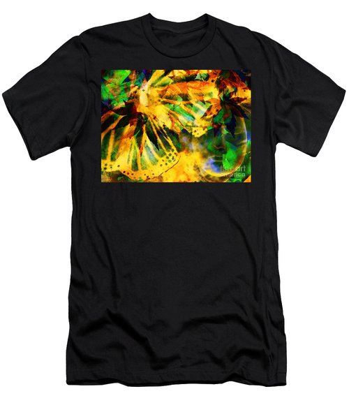 Face In The Rock Conjures Leaves Into Butterfly Men's T-Shirt (Athletic Fit)