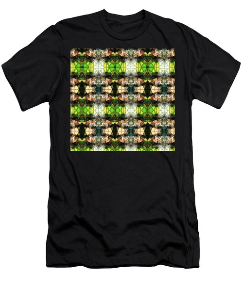 Men's T-Shirt (Athletic Fit) featuring the photograph Face In The Stained Glass Tiled by Clayton Bruster