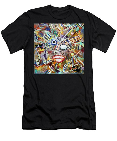 Faces In Life - Just Smile Men's T-Shirt (Athletic Fit)