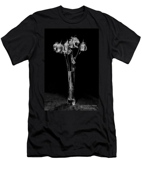 Faded Long Stems - Bw Men's T-Shirt (Athletic Fit)