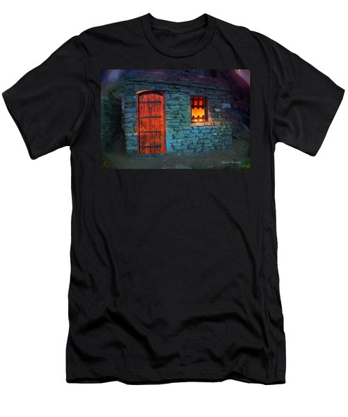 Men's T-Shirt (Athletic Fit) featuring the photograph Fairy Tale Cabin by Gunter Nezhoda