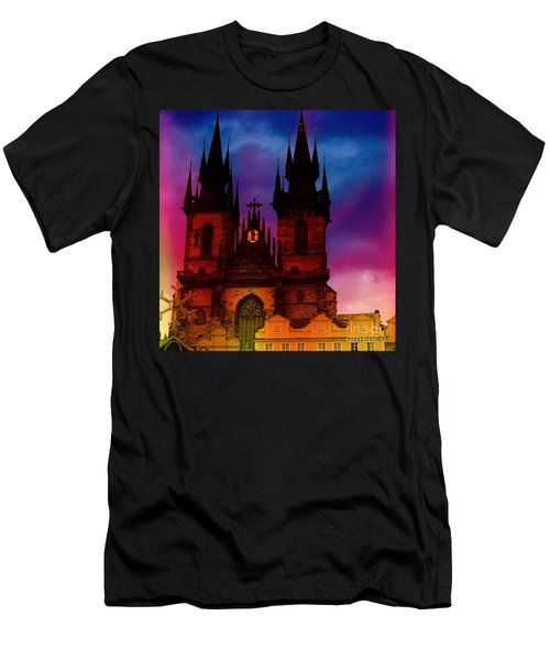 Fairy Tale Castle Prague Men's T-Shirt (Athletic Fit)